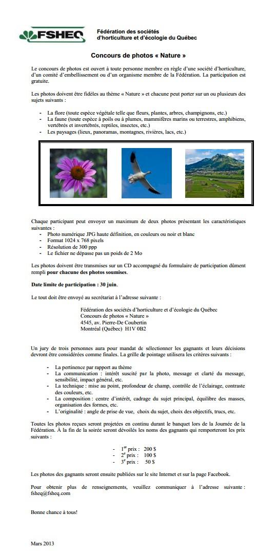 FSHEQ  - concours de photo nature